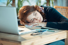 Sleepy student Stock Image