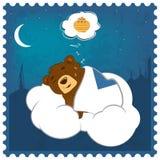 Sleepy Teddy bear Royalty Free Stock Images
