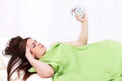 Sleepy woman Royalty Free Stock Image