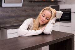 Sleepy woman Stock Images