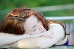 Sleepy women Royalty Free Stock Images