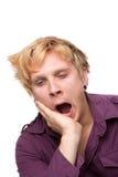 Sleepy Young Man Stock Images