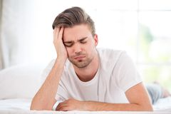 Sleepy young man Royalty Free Stock Images