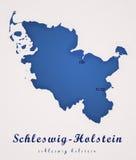 Sleeswijk-Holstein Duitsland Art Map Stock Afbeeldingen