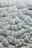 Sleet. Structure of sleet on a vertical surface Royalty Free Stock Photos