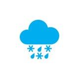Sleet weather icon isolated on white background. Vector illustration. Stock Image