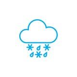 Sleet weather icon isolated on white background. Vector illustration. Stock Photo