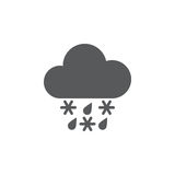 Sleet weather icon isolated on white background. Vector illustration. Stock Photos