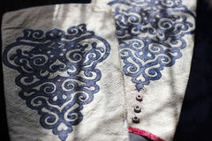 Sleeve протекторы сделанные реальной кожи рыб с традиционное этническим Стоковое Фото