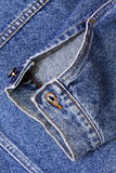 Sleeve denim jacket Royalty Free Stock Photos