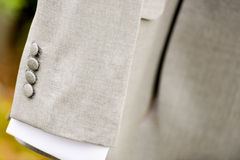 Sleeve gray suit coat Royalty Free Stock Image