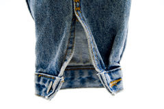 Sleeve of jeans jacket Royalty Free Stock Images