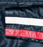 Sleeve of a leather jacket Royalty Free Stock Photos