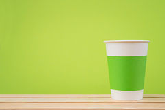 Sleeve paper cup Royalty Free Stock Images