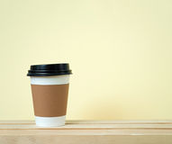 Sleeve paper cup Stock Photos