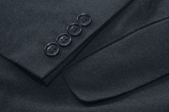 Sleeve and Pocket of Grey Suit Jacket. Royalty Free Stock Photos