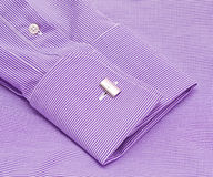 Sleeve of a shirt with a cuff link Stock Images