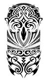 Sleeve size tattoo ornament. Maori style design for sleeve tattoo Stock Images