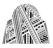 Sleeve tattoo ornament. Samoa style ornament. Good for bicep and sleeve tattoo Stock Photography