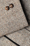 Sleeve of tweed brown jacket Royalty Free Stock Photography