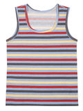 Sleeveless children's shirt isolated on white. Background Royalty Free Stock Images