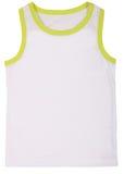 Sleeveless children's shirt isolated on white Stock Photography