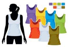 sleeveless mall för skjorta stock illustrationer