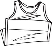Sleeveless schets van t-shirt Stock Afbeelding