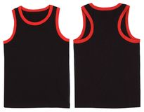 Sleeveless unisex shirt front and back view Royalty Free Stock Images