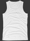 Sleeveless unisex shirt isolated on gray Stock Photography