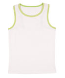 Sleeveless unisex shirt isolated on white Stock Images