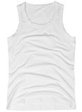 Sleeveless unisex shirt isolated on white Royalty Free Stock Photos