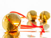 Sleigh bell with red ribbon Stock Photography