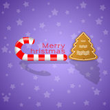 Sleigh candy for Christmas Royalty Free Stock Image