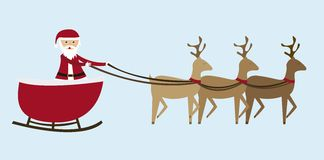 Sleigh cartoon Royalty Free Stock Photos