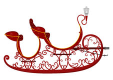 Sleigh. Cartoon Santa's sleigh on a white background. Vector file also available Royalty Free Stock Photo