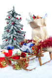 Sleigh with Christmas gifts Royalty Free Stock Photography