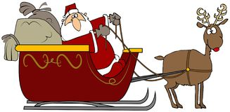 Sleigh de Santa Photo libre de droits