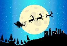 Sleigh de Santa, illustration de vecteur Images stock