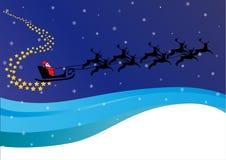 sleigh för s santa royaltyfri illustrationer