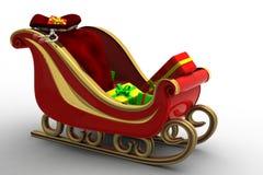 sleigh för s santa Royaltyfria Bilder