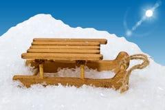 Sleigh figures in snow Royalty Free Stock Photos