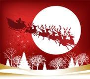 sleigh för s santa Arkivbilder