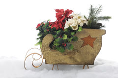 Sleigh Full of Christmas Foliage Royalty Free Stock Image