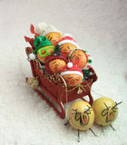 sleigh full of fruit Stock Photo