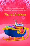 Sleigh full of gift for Merry Christmas Royalty Free Stock Photo