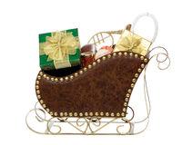 Sleigh Full of Presents and Toys Royalty Free Stock Photography