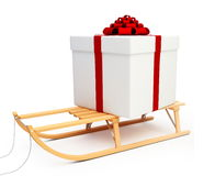 Sleigh gift Stock Photo
