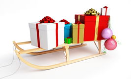 Sleigh gift Royalty Free Stock Photography