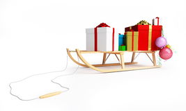 Sleigh gift Stock Photos